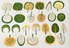 DECAL NR. 10 MOD. TREES (GREEN-GOLD) MAX. 800°C, <br><i>Preis pro Stück</i>