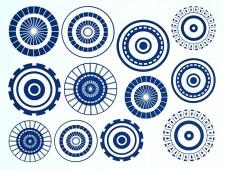 DECAL NR. 12 LARGE CIRCLES-1 (BLUE) MAX. 800°C, <br><i>Preis pro Stück</i>