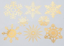 DECAL NR. 21 LARGE SNOWFLAKES (GOLD) MAX. 800°C, <br><i>Preis pro Stück</i>