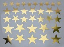 DECAL NR. 26 SOLID STARS (GOLD) MAX. 800°C, <br><i>Preis pro Stück</i>