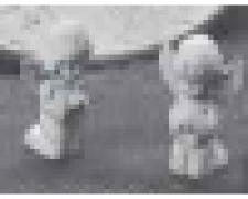 GIPSFORM 2 KNIEENDE ENGELCHEN  HÖHE 7.5CM, <br><i>Preis pro Stück</i>