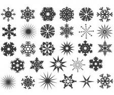 DECAL NR. 20 SNOWFLAKES (GOLD) MAX. 800°C, <br><i>Preis pro Stück</i>