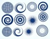 DECAL NR. 15 LARGE CIRCLES-2 (BLUE) MAX. 800°C, <br><i>Preis pro Stück</i>