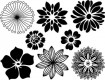 DECAL NR. 4 LARGE FLOWERS (BLUE) MAX. 800°C, <br><i>Preis pro Stück</i>